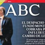 Luto en la portada de ABC